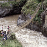 Inca rope bridges