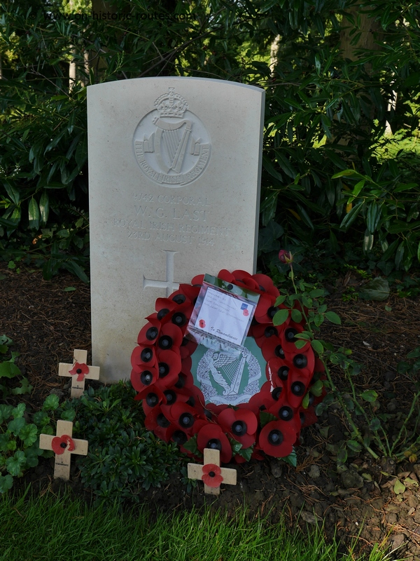 Headstone on St Symphorien cemetery